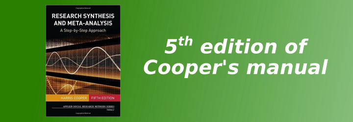 Cooper meta-analysis manual 5th edition